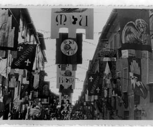 1938.- SETTEMBRE ALLESTIMENTO CENA DELLA VITTORIA ULTIMA PRIMA DELLA GUERRA