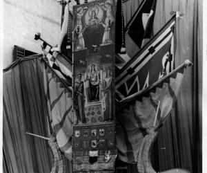 1949-11 SETTEMBRE ADDOBBO DEL PALIO CON LE BANDIERE DELLE ALLEATE