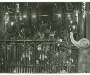 1954-1 LUGLIO IMMAGINI DELLA CENA IN ONORE DEI VENEZIANI PER LA POSA DEL LEONE DI S.MARCO