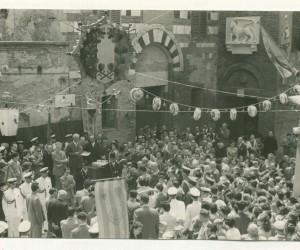 1954-2 LUGLIO ALCUNI MOMENTI INAUGURAZIONE DELLA POSA DEL LEONE OFFERTO DA VENEZIA LA SERENISSIM4