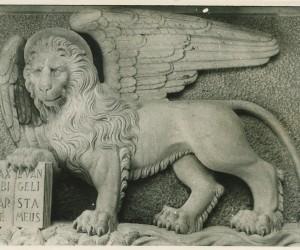 1954-2 LUGLIO IL LEONE DI SAN MARCO POSTO ALL ' INIZIO DEL RIONE DONATO DA VENEZIA